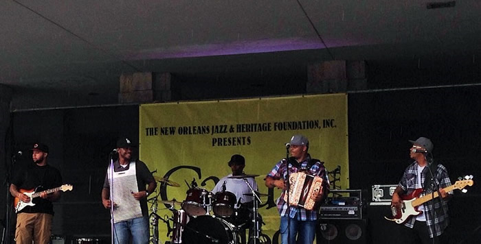 R.J. Chavis and the Creole Sounds at the 2016 Louisiana Cajun-Zydeco Festival